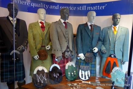 Kilt maker shop