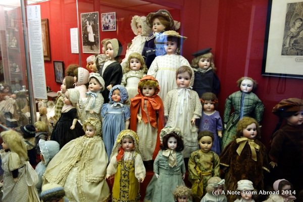 A small sample of the extensive doll collection
