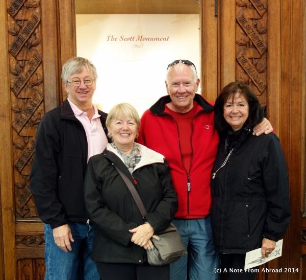Tim, Joanne, Dick, Karen at the Scott Memorial