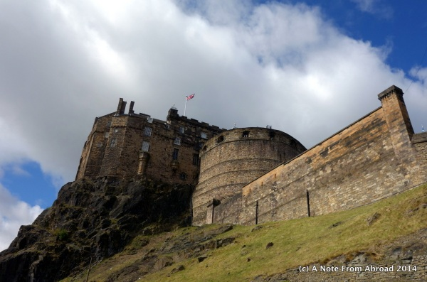 Edinburgh Castle from below
