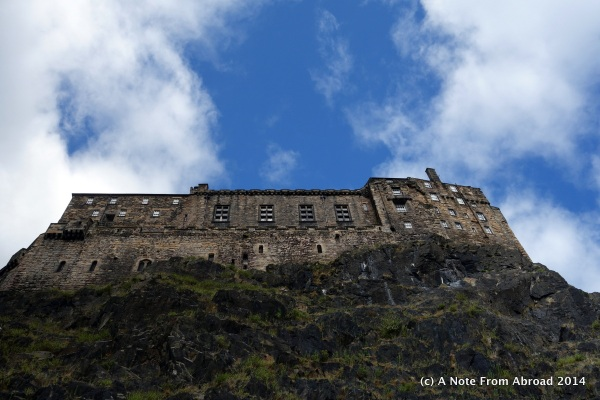 Edinburgh Castle side view