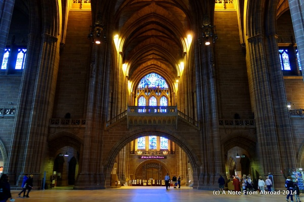 Interior of Cathedral with bridge way
