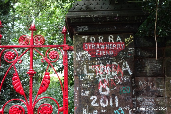 Entrance to Strawberry Field Estate