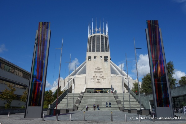 Front entrance to Liverpool Metropolitan Cathedral