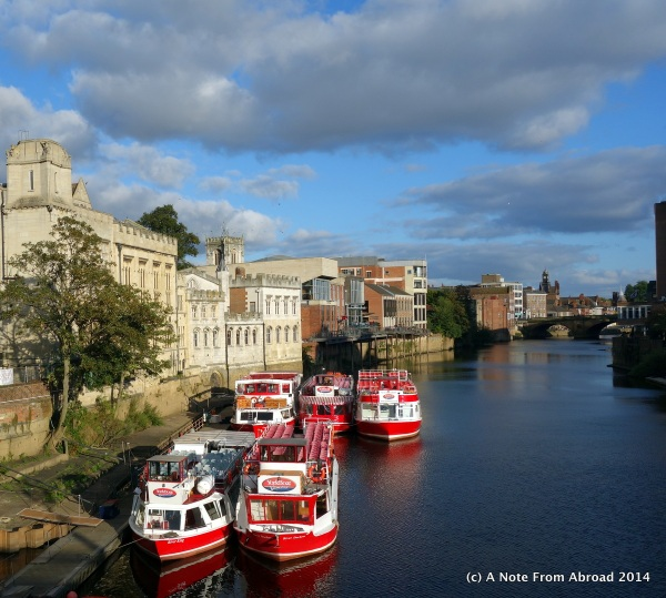 Beautiful York along the river