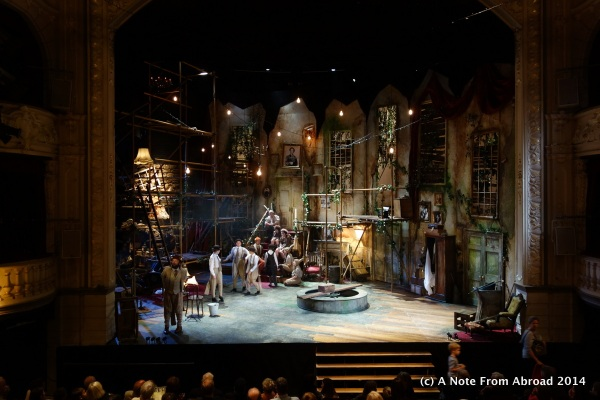 """Set for the play """"Wind in the Willows"""""""