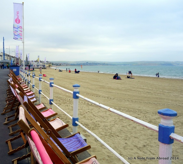 Comfortable chairs lined the boardwalk for anyone that wanted to sit and watch the surf
