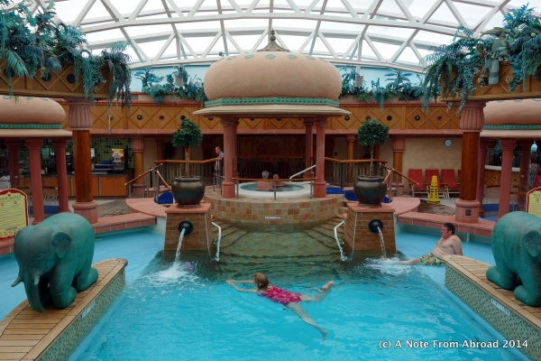 Indoor swimming pool and spa area