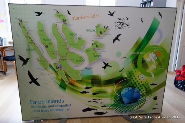 The Faroe Islands map