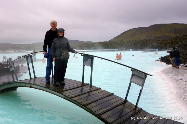 Tim and Joanne at the Blue Lagoon