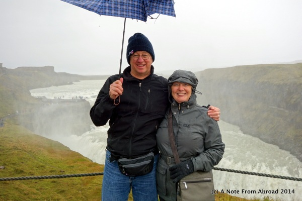 Tim and Joanne at Gullfoss