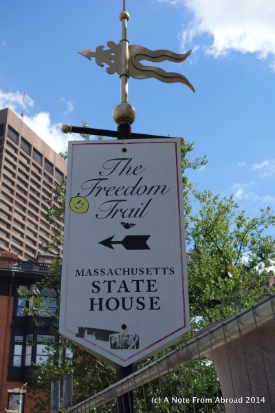 Start of the Freedom Trail
