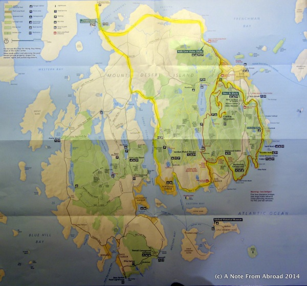 Map of Acadia National Park