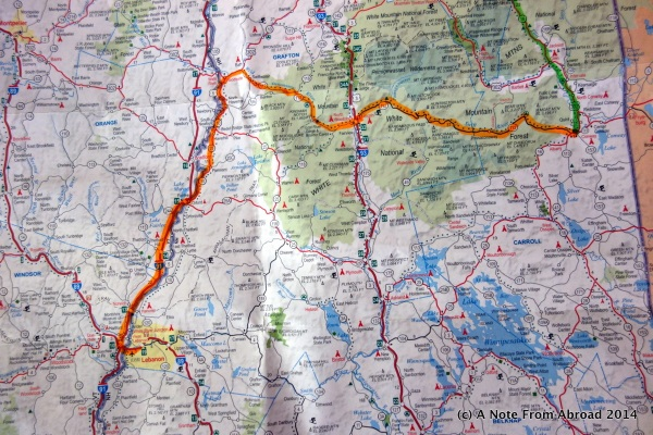 Todays route is shown in orange