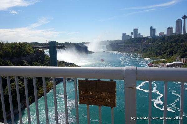 From the bridge - On the border of USA and Canada