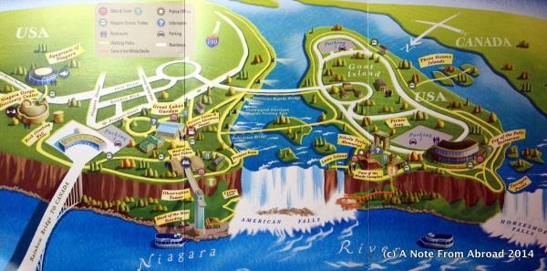 Map of Niagara Falls State Park