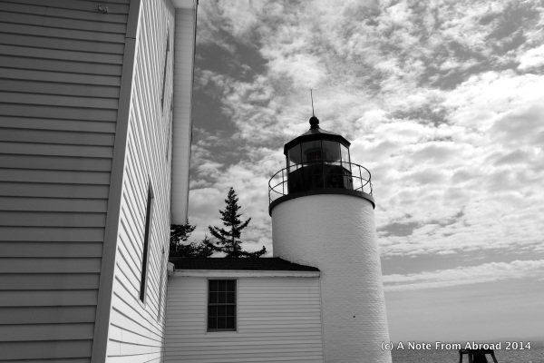 Bass Harbor Head Lighthouse (black and white)