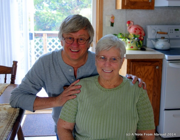 Tim with his mom (Shirley)