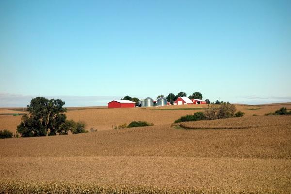 Rolling hills in western Iowa