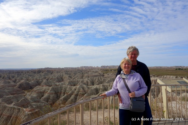Tim and Joanne at Badlands NP