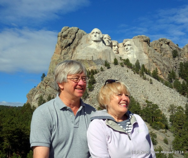 Joanne and Tim at Mt Rushmore National Park