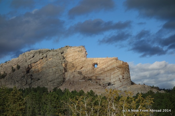 Finally the sun was shining on Crazy Horse, just as we were leaving
