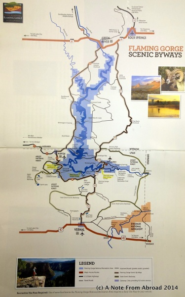 Map of Flaming Gorge