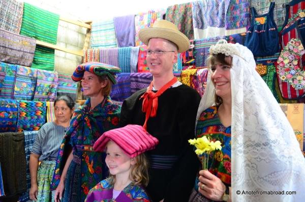Mayan wedding reenactment