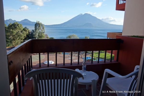 View from our room overlooking Lake Atitlan
