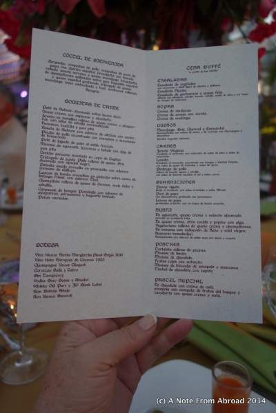 Full menu from drinks to appetizers to dessert