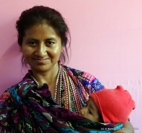 Just received nutritional supplements for her baby and was here to say thank you to her donor.