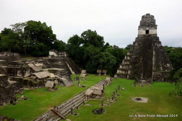 Grand Plaza, Tikal National Park. We had the place all to ourselves. Temple I is on the right, also known as the Temple of the Great Jaguar