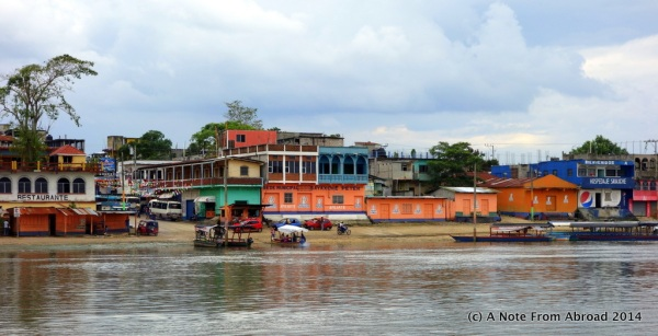 We crossed the river here by a small ferry
