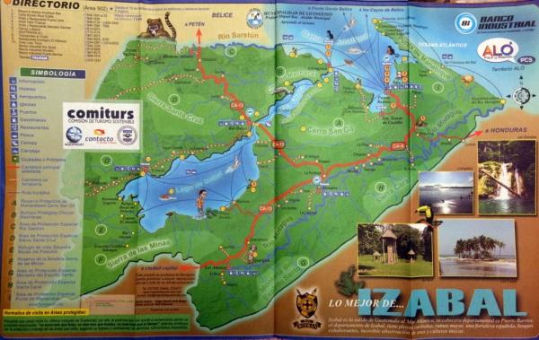 Map of Lake Isabal area