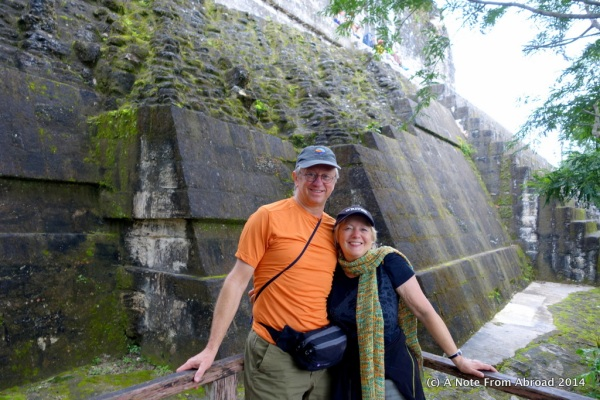 Tim and Joanne at Tikal