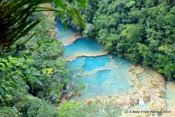 Semuc Champey from on high