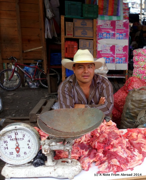 Raw meat ready to be weighed and wrapped