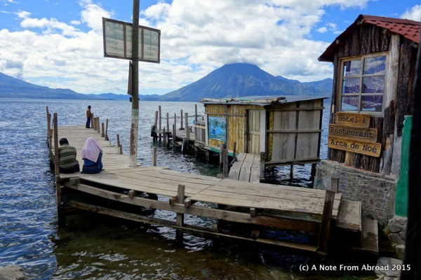 Dock at Santa Cruz - Lake Atitlan, Guatemala