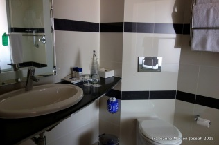 Comfortable, modern and clean bathroom