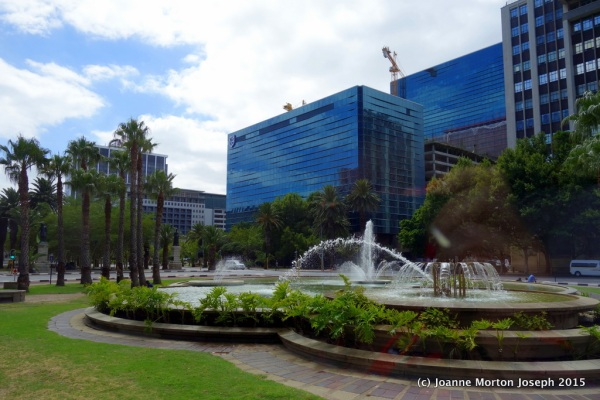 Fountains and buildings