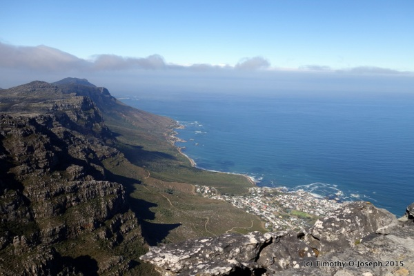 Looking toward the peninsula and Cape Point