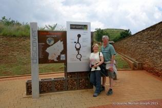 At entrance to Maropeng