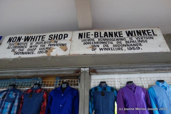 A non-white shop