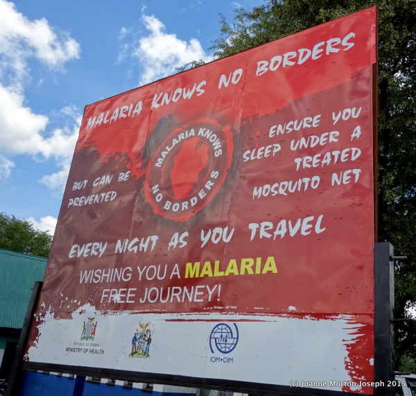 Malaria warning sign