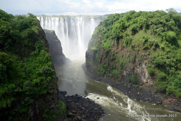 View from Victoria Falls Bridge