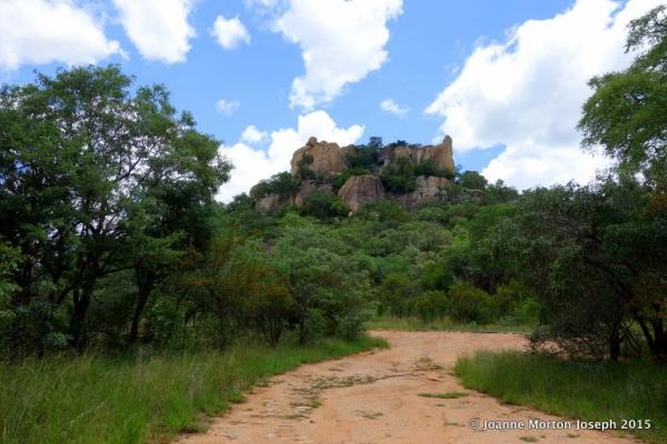 Driving through Matobo National Park