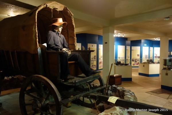 Inside the basement level museum