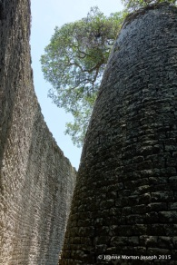 I could feel a cool breeze as we walked between these gigantic walls