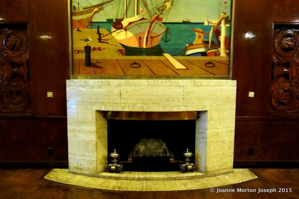 Fireplace in one of the public rooms