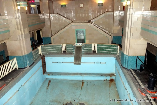 Drained indoor swimming pool